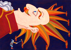 Gulliver's Travels_03 (Hilo Tomula) Tags: hilo tomula hiro tomura トムラ ヒロ とむら ひろ gulliver travel giant novel england king jonathan literature lilliput adventure story book people world voyage shipwreck iornic english kingdom satirical accident illustrator illust illustrater drawing painting painter art graphic cover design silk poster print acrylic hammer pile piling impact shocked awakening tiny small swift sea ocean イラストレーター