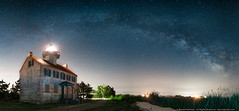 Night Light (mhoffman1) Tags: a7r arch astro astronomy astrophotography cumberlandcounty delawarebay eastpoint evening galacticcenter galaxy heislerville jersey lighthouse mauriceriverlighthouse milkyway night nj pano panoramic sky sonyalpha stars universe