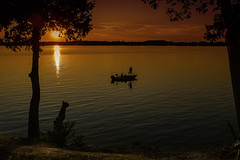Going Home (Chuck LaChance) Tags: fishing stlawrenceriver newyork boat river sunset nature