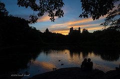 Remains of the Day (CVerwaal) Tags: nyc sunset usa ny newyork centralpark romance ricohgr turtlepond