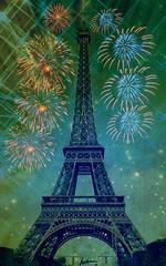 ~14 juillet~ (France-) Tags: paris france tower texture monument metal europe toureiffel fte champsdemars bastilleday 14juillet feuxdartifice commmoration clbration picmonkey