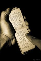 Consultando antiche formule ... (ugo.ciliberto) Tags: memoriale tecnico mazzocchi 1887 formule biographicalmemoir technical seppia sepia formulas mani hands