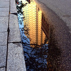 Mirror. (Lisa Toboz) Tags: mirror reflection puddle downtown pittsburgh