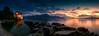 Chillon Castle Sunset Panorama (peterjcoughlan) Tags: châteaudechillon lakegeneva montreux switzerland landscape sunset night wonderfulworld goldcollection wow chilloncastlesunset
