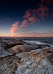 Cape Banks Sunrise 1 (RoosterMan64) Tags: australia capebanks clouds landscape leefilters longexposure nsw rockshelf seascape sunrise sydney laperouse newsouthwales au