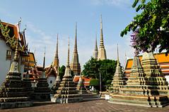 Stupas of Wat Pho - Bangkok - Thailand (PascalBo) Tags: architecture thailand outdoors temple pagoda nikon asia southeastasia bangkok stupa capital religion buddhism thalande asie capitale watpho bouddhisme pagode d300 asiedusudest pascalboegli