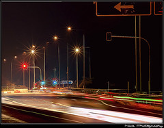 ... - Light forms... (Nick Papakonstantinou) Tags: road nightphotography red white trafficlights green night lights traffic sony headlights greece f828 hdr sonydscf828 backlights roadlights volos sonyf828 thessaly lightrails hdrphotography longexposurephotography magnesia goritsahill