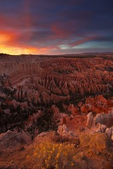Ignition (ernogy) Tags: sunset red sky usa southwest west colors landscape outdoors photography utah nationalpark bryce brycecanyon ignition ernogy