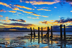 Reflections Of A Glorious Past (mckie.fred) Tags: ocean old sunset sea seascape reflection water silhouette horizontal clouds jetty australia queensland aus derelict redlands landscapephotography clevelandpoint landscapeformat redlandcity