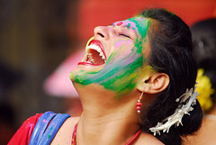 A thousand reasons to a laughter (Rajib Singha) Tags: travel portrait people india colors interestingness searchthebest explore laughter holi kolkata westbengal nikond200 jorasanko flickriver nikkor80200mmf4ais rajibsingha