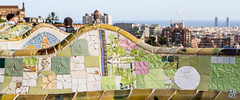 Parc Gell (1oeil2yeux) Tags: barcelona voyage bench gaud sagradafamilia espagne parc mosaique banc barcelone d800 parcgell antonigaud