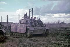 "WW2 1943, URSS, Panzerkampfwagen III Ausf.J #556 with the crew. SS-Panzer-Regiment 1/1.SS-Panzergrenadier-Division ""Leibstandarte SS Adolf Hitler"""