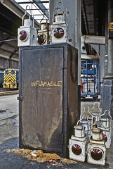 make your train complete (stephen mcgahon) Tags: station newcastle railway lamps