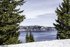 Crater Lake Oregon - Feb. 2015 (RickDrew) Tags: park trees sky lake tree water clouds oregon forest canon or calm crater february feb ore 2015 5dmkiii
