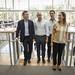Mauricio Macri visita las nuevas oficinas en Parque de Patricios