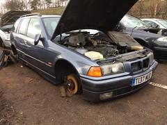 BMW 328i (Sam Tait) Tags: life england 6 classic cars yard pull estate parts 1999 retro cylinder end bmw scrapyard pick scrap salvage rare touring e46 328i