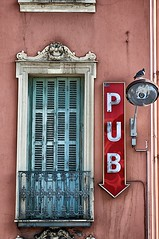 Pub in France (Massimo Usai) Tags: travel france sign nice pub europe cotedazur promenade provence mediterraneansea alpesmaritimes southfrance mediterraneancoast