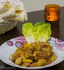 Zucchini chicken with pomegranate molasses sauce