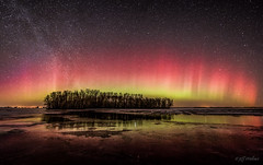 Onset (WherezJeff) Tags: red canada march pano alberta legal auroraborealis milkyway 2015 sturgeoncounty