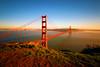 Sunset over Golden Gate Bridge (Ian Eng) Tags: bridge sunset bw canon golden gate efs 1022mm 70d f35f45 nd110
