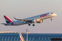 Embraer 190 - F-HBLF HOP @ CDG/LFPG (yakusa77) Tags: hop spotting airfrance 190 cdg embraer avions fhblf