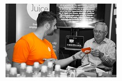 Body health checks at the UHR Conference 2015 (GaryButterfield) Tags: uk england orange color colour bright juice yorkshire leeds health human conference hr highlight resources uhr wellbeing