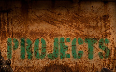 Procrastinatory Tendency (Junkstock) Tags: california old color green typography photography photo graphics rust graphic photos decay text rusty photographs photograph rusted type weathered aged distressed corrosion decayed patina corroded oldstuff perris