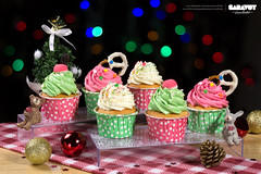 Wishful Day - Christmas Set 2014 (Saravut - Viewfinder) Tags: christmas cute festival set studio table dessert photography sweet bokeh celebration cupcake photograph bakery celebrate saravutviewfinder