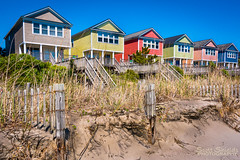 Beach houses (Scott (Smiley)) Tags: house color beach fence sand south carolina surfside 2016
