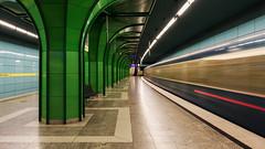 Munich Underground. Bhmerwaldplatz (susan pau) Tags: underground subway munich mnchen ubahn