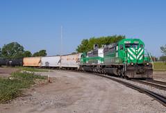 Transferring The Wheeling (Joseph Bishop) Tags: railroad ohio train track tracks rail railway trains rails bellevue railfan emd sd402 wle wheelingandlakeerie
