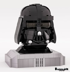LEGO Ideas Darth Vader Portrait Sculpture (buggyirk) Tags: portrait sculpture brick starwars lego helmet disney bust figure darthvader ideas built returnofthejedi moc anewhope afol theempirestrikesback brickbuilt buggyirk