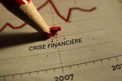 Crise financire ... encore et toujours ... (leblondin) Tags: red macro pen rouge crayon crisefinancire