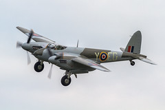 RAF D.H.98 Mosquito FB.26 KA114/N114KA 'EG-Y' (Hugh Dodson) Tags: ypsilanti raf egy willowrun dh98 arrivalsday ka114 n114ka mosquitofb26 thunderovermichigan2015