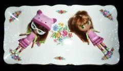 Cute Vintage Tray! 134/365 (Bebopgirl1969) Tags: floral vintage tray petiteblythe blytheloveslittlestshop