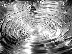 Stack of Glass Bowls (WilliamND4) Tags: blackandwhite bw glass bowls iphone 6s
