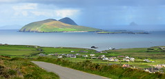 Its raining on the Blasket Islands (Barbara Walsh Photography) Tags: road ireland sea water rain boats view dingle kerry ferrie blasketisland wildatlanticway