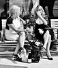 Champagne Blondes (jaykay72) Tags: street uk blackandwhite bw london candid streetphotography waterloostation londonist stphotographia