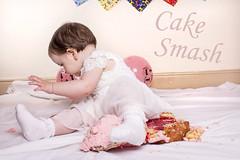 Cake Smash (Kelly Daniels 777) Tags: birthday party baby cake photoshoot sweet flash happybirthday firstbirthday celebrate 1stbirthday cakesmash studiolights studioflash childrenphotography cakesmashphotography