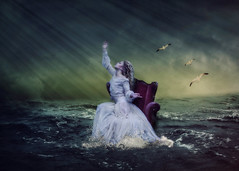 On the sea (Indiesigh Ph) Tags: wedding light sea photography interesting model photographer dress seagull creative atmosphere sofa workshop turin digitalmanipulation 2016 indiesigh