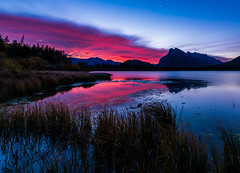 Vermillion Lakes Sunrise (Mark Willard Photography) Tags: vermillion lakes sunrise banff national park alberta canada parcs parc travel vacation landscape nikon d810 holiday morning nature natural reflection canadian camping trees mountain mountains lake