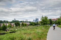 Atlanta Beltline (StGrundy) Tags: atlanta urban usa skyline georgia nikon unitedstates walk south pedestrian bicycles southeast tamron beltline greenway inmanpark d7000 stgrundy
