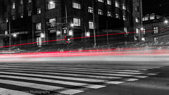 Mexico City Rush Hour (NakedMountain) Tags: city longexposure red people white black cars night mexico crossing traffic fast busy lighttrails manic hectic