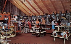 Gift Shop, Animaland, Sussex, New Brunswick (SwellMap) Tags: architecture vintage advertising design pc 60s fifties postcard suburbia style kitsch retro nostalgia chrome americana 50s roadside googie populuxe sixties babyboomer consumer coldwar midcentury spaceage atomicage