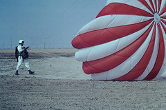 5-4-1968- Perris Valley CA (6) (foundslides) Tags: perrisca skydiving parachute parachuting perris irmalouiserudd johnhrudd photos photography desert 1968 1960s agfachrome agfa slide slidefilm foundslides outdoor sport perrisairport daredevils airplane retro vintage analog slidecollection irmarudd