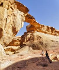Wadi Rum Big Arch fr#16A2B3 (kevinwenning) Tags: cliff mountains arch desert plateau wadirum petra tourist jordan formation geology wenning bigarch kevinwenning intentionallylostcom