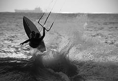 (Paul J's) Tags: man sport surfing kitesurfing taranaki newplymouth eastendbeach