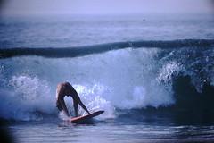 12-1969- Redondo Surf (14) (foundslides) Tags: redondobeach ca calif california analog slide slides irmalouiserudd johnhrudd foundslides kodachrome kodak vintage surfer surfers surfing breakers wave waves sports water ocean sea seasid 1969 1960s transparencies rudd irma wetsuit wet december socal southbaycameraclub south bay southbay usa surfboard