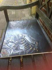 Aliens vs Predator Painting (RedRoofArt) Tags: alien predator avp art acryl metal