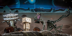 In space, no one can hear Danbo scream... (M.W.A. Photography) Tags: danbo danboard space alien toy toys